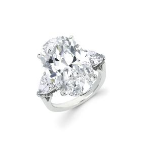Forevermark Diamond Ring with a Oval Cut Forevermark Diamond set in PLatinum