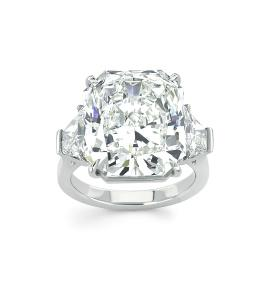 Forevermark Ring with 13.56 ct Radiant Cut Forevermark Diamond set in Platinum