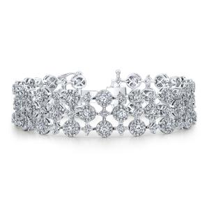 Forevermark by Natalie K The Center of My Universe Three Row Bracelet with Round Brilliant Forevermark Diamonds set in 18k White Gold