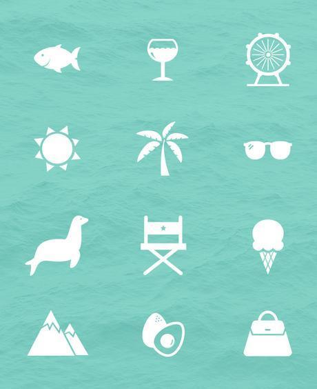 California vector icons