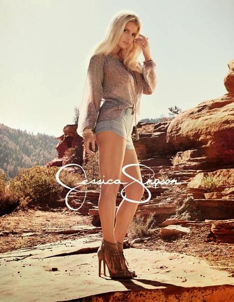 Jessica Simpson in Spring 2015 Clothing Ads