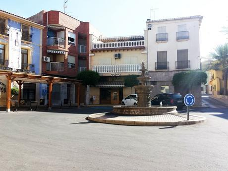 Water fountain roundabout in Pinoso