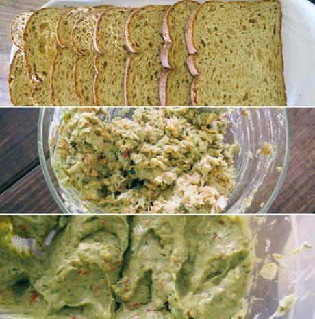 Basil Pesto Chickpea Sandwiches