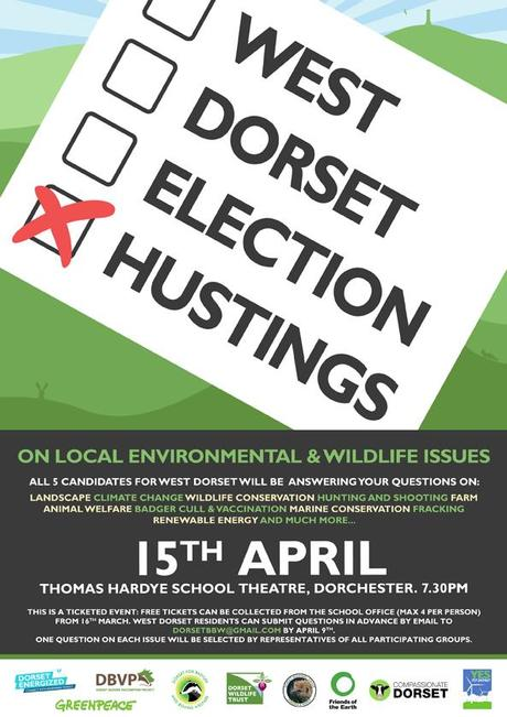 Dorset Energized support West Dorset Election Hustings in Dorchester on 15th April 2015