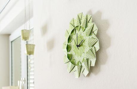 Origami Wall Clock By SCHICK