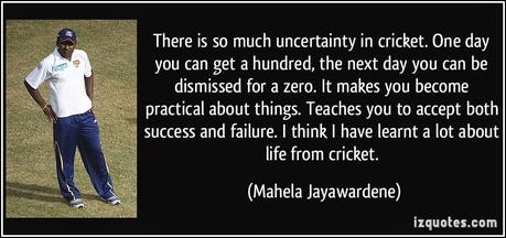What Cricket Teaches Us...