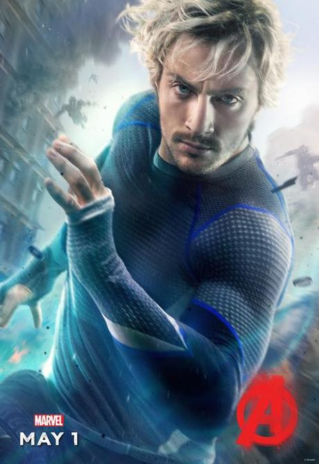 Mavel Release Quickersilver & Scarlet Witch Avengers Age Of Ultron Posters