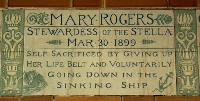 Postman's Park (3): Mary Rogers