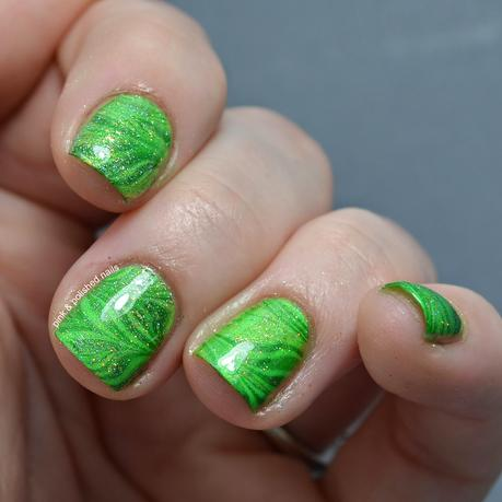 St. Patrick's Day Inspired Water Marble
