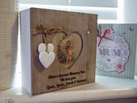 rustic heart photo frame memory box