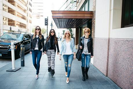 chic at every age, how to wear a moto leather jacket, how to dress for every age