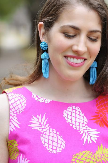 Lisi Lerch turquoise tassel earrings