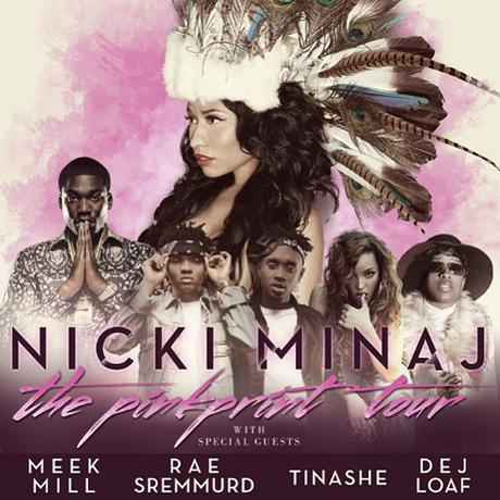 Nicki Minaj Announces PinkPrint Tour With Meek Mill, Tinashe, Rae Sremmurd, & More