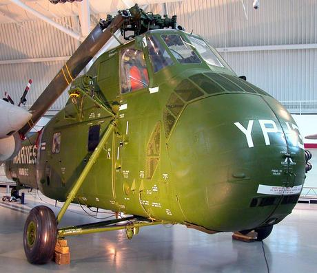 the Smithsonian gave away an immaculate and complete UH - 34 Sikorsky Seahorse, it wasn't shot up and battle scarred enough to represent the authentic US Marines that used such craft