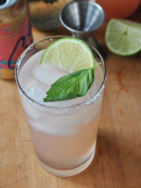 basil paloma cocktail