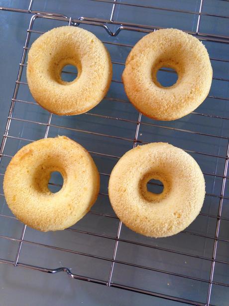 Lemon 'Easter Nest' Baked Donuts