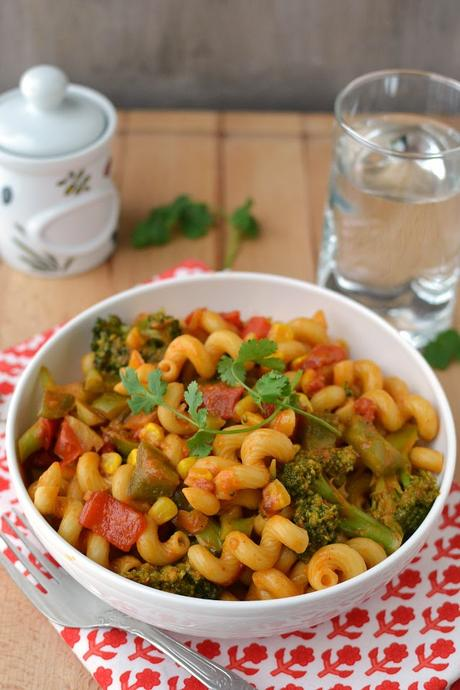 Pasta with Curried Vegetable Sauce