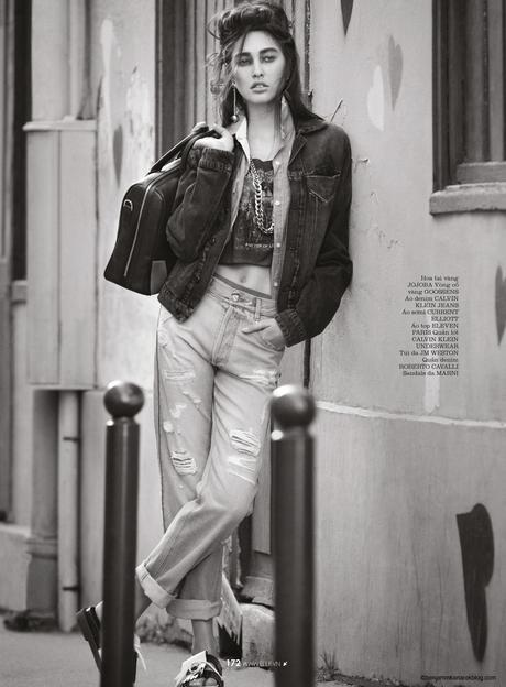 Eden Bristowe at Elite Paris in Denim for ELLE by Benjamin Kanarek