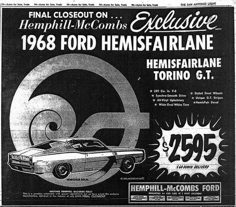 Ford Fairlane Hemisfair.... connected to the Ford Sponsorship of the Hemisfair in San Antonio, in 1968