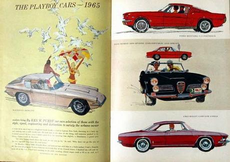 the 1965 illustrations of Ben Denison, in the 1965 Playboy Cars feature