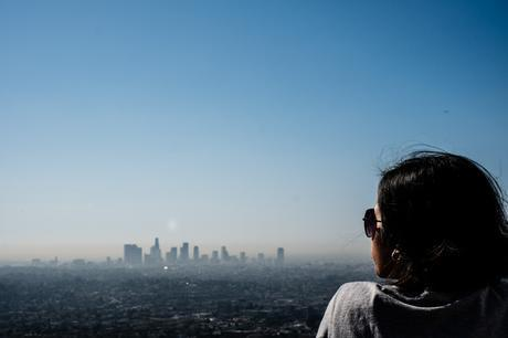 LA in the morning from Griffith Observatory. Notice the lovely brown alien invasion swallowing the city.
