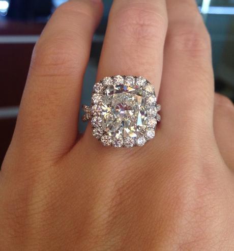 Square Cut Canary Diamond Ring