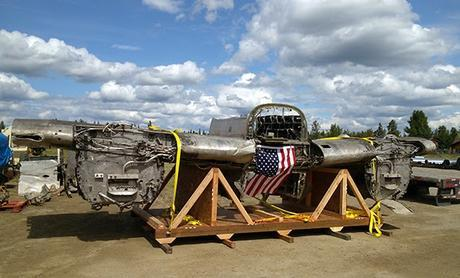 Sandbar Mitchell, was finally lifted out of the Alaska wilderness last year, and is getting rebuilt at the Warbirds of Glory museum