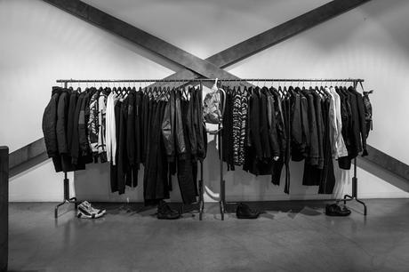 d012e03db9 Black and White Picture Photo  Inside boutique clothing store