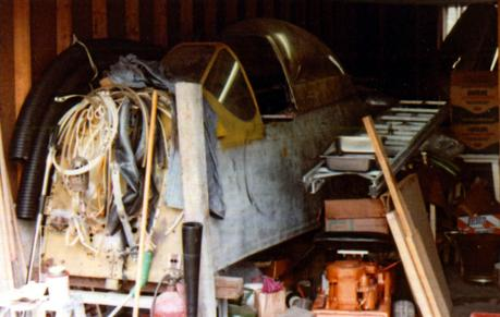 The Mustang in the garage.. P51 F-6D to be exact, incredibly rare