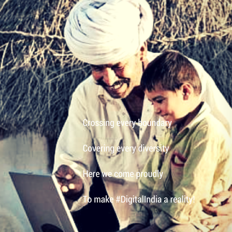 Digital India vision to empower rural India.
