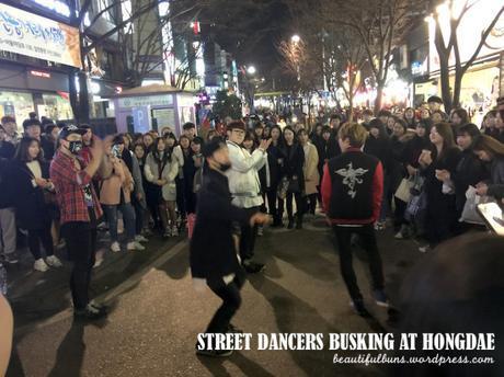 Hongdae Night time street dancers