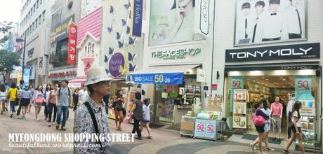 Myeongdong Day time shopping