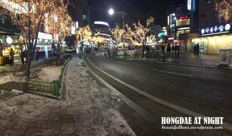 Hongdae night time winter