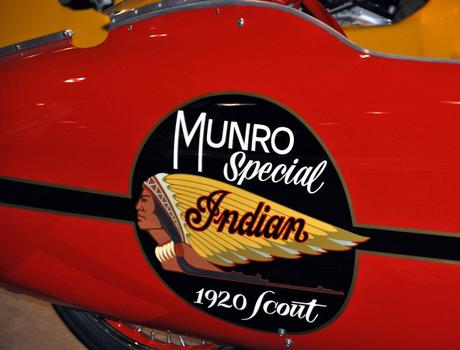 the Hollywood version of Burt's streamlined world record setting 1920 Indian Scout was at the GRNS