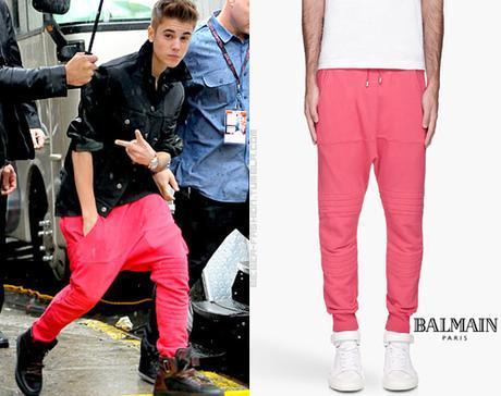 Justin Beiber Stupid Balmain Sweatpants