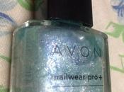 Avon Nail Wear Pro+ Enamel Chilling Teal Review Swatches, NOTD