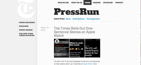 At a Glance Journalism, smart watches and the one sentence story