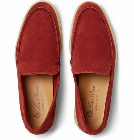 Slipped & Ready:  Loro Piana Summer Walk Suede Loafers