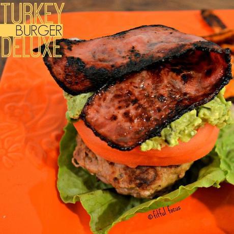 Turkey Burger Deluxe, gluten free, low carb via @FitfulFocus