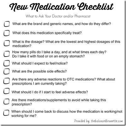Medication Checklist World Health Day
