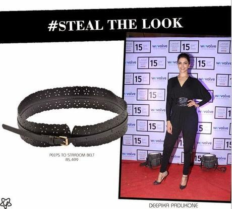 #ShopWhatTheyGot | Steal Look-Alike Of Deepika Padukone's Black Leather Wais Belt For Only Rs.499