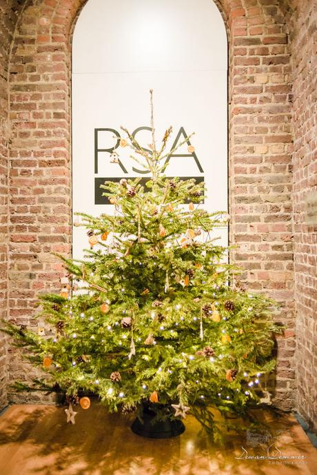 Christmas tree in vaults at rsa house