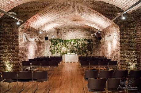 Ceremony seating in the vaults at rsa house
