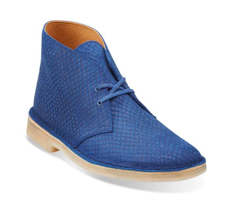The Skin A Classic's In:  Clarks Snake Leather Desert Boot