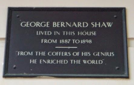 #London Plaque Tiddlywinks No.11: George Bernard Shaw