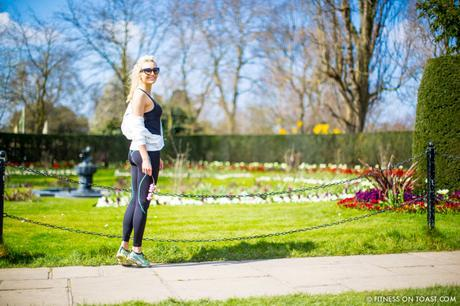 Fitness On Toast Faya Blog Girl Healthy Spring Into Fitness No Jiggle Regents Park London Location Shoot Fashion OOTD