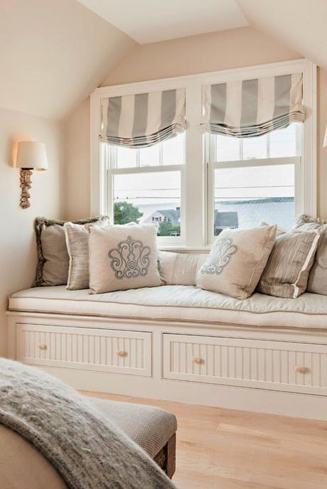 comfy window seat | Casabella Home Furnishings and Interiors I have to have one someday :)