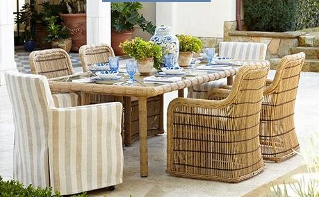 SSU HOME| Outside Dining Area Inspiration with Wicker Furniture and Glassware