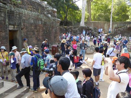 The Crowds at Ta Prohm in Angkor Wat