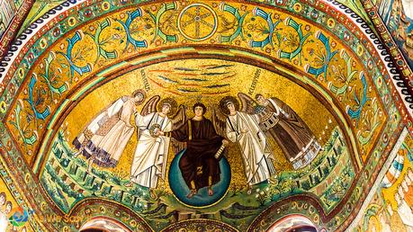 Mosaic of Jesus and angels, Basilica of San Vitale